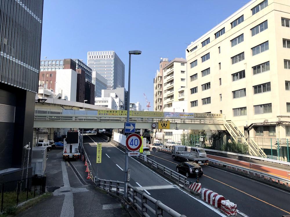 銀座最東端 京橋JCT付近