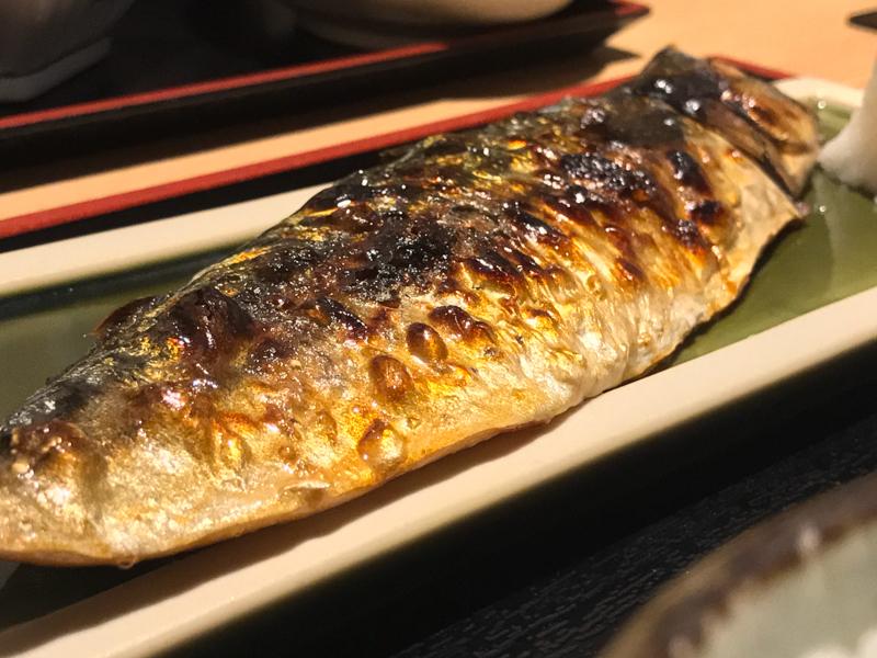 鯖街道 焼き鯖御膳 焼き鯖のアップ
