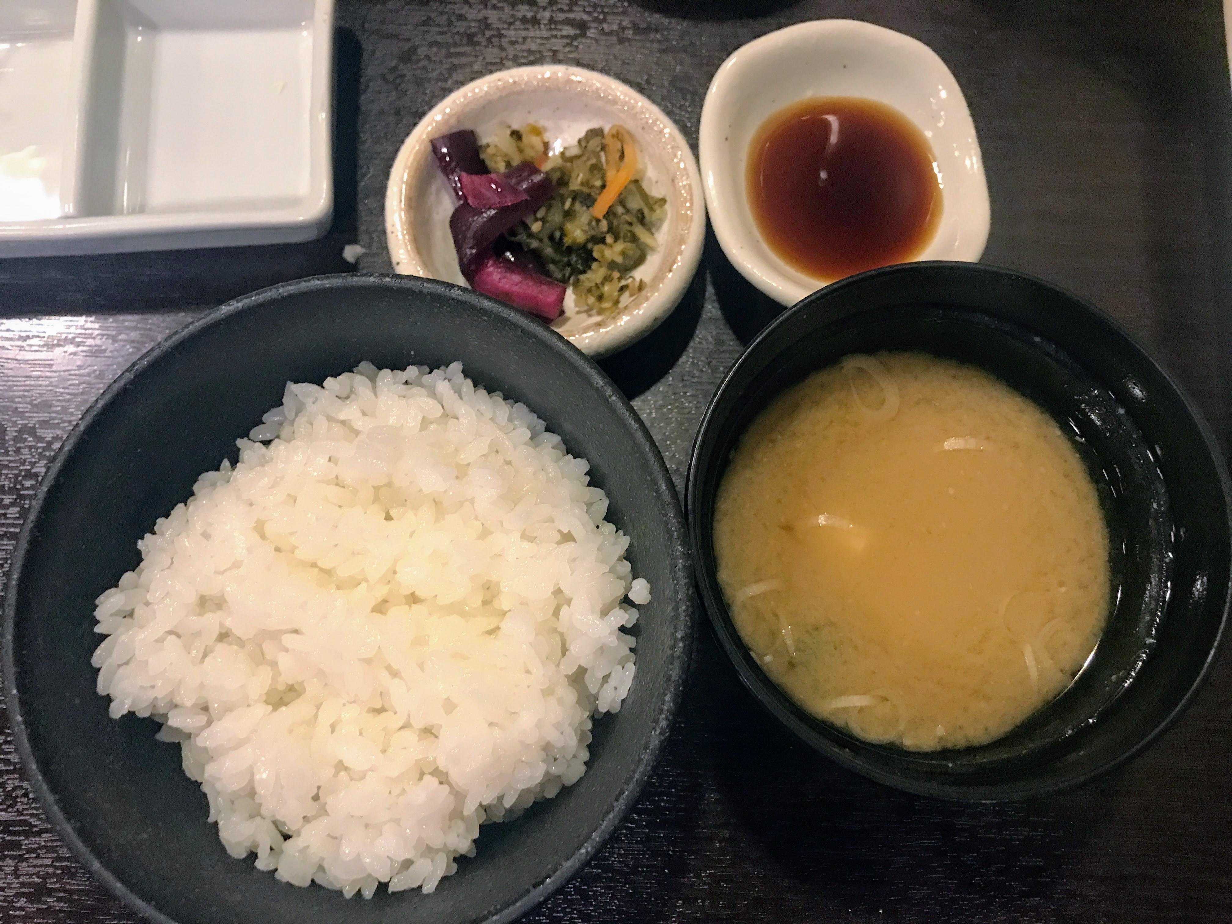 銀座 イマカツ ご飯セット