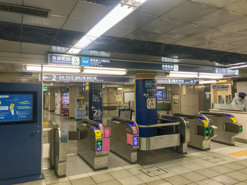 銀座一丁目駅のコインロッカー