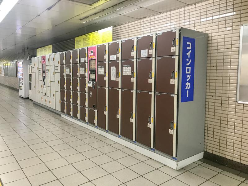 東銀座駅 コインロッカー