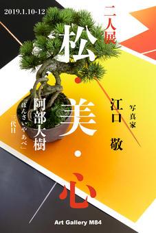 盆栽と写真の二人展『松・美・心』 銀座